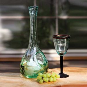 White Wine Glass Decanter with Ice Pocket