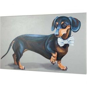 Dapper Dachshund Canvas Art
