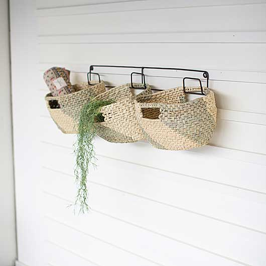 HANGING WOVEN SEAGRASS BASKETS
