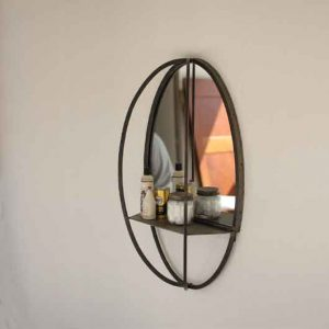 Oval-Mirror-with-Wall-Shelf