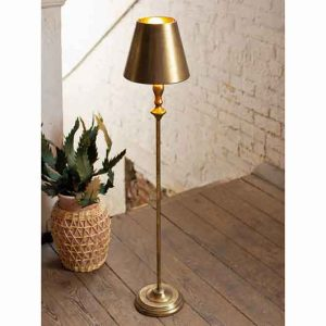 Antique Gold Metal Table Lamp with Metal Shade