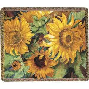 Sunny Faces Tapestry Throw